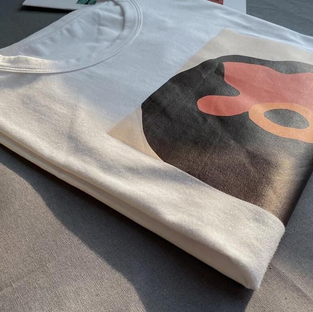Toppies 2020 summer character t-shirts fashion girls tops short sleeve printing t-shirts korean women clothes 95% cotton