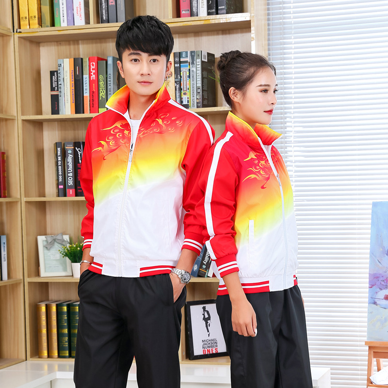 Square Dance Fashion Casual Jacket Parent And Child Two-Piece Set Men's Women's Travel Running Sports School Uniform Business At