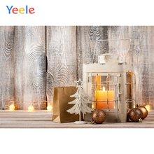 Рождественское украшение Свеча светильник деревянный пол дом