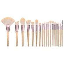18Pcs Makeup Brushes Set Loose Powder Brush Foundation Brush Eyeshadow Eyebrow Lip Brush Fan Brush Kit For Make up Professional цена