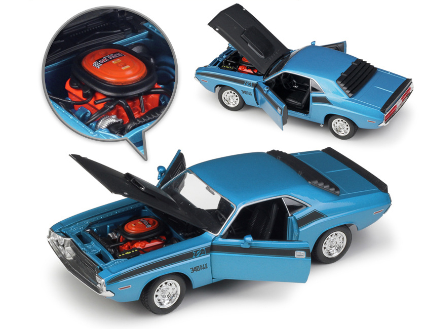 1970 DODGE Challenger T//A Diecast Model Car Muscle Cars WELLY In 1:24 Scale