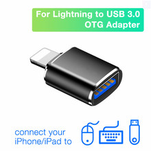 Adaptateur de caméra OTG Lightning vers USB, connecteur femelle USB3 pour iPhone vers USB A, disque de données, pour iPhone 12 11 Pro Max Mini SE2 XS