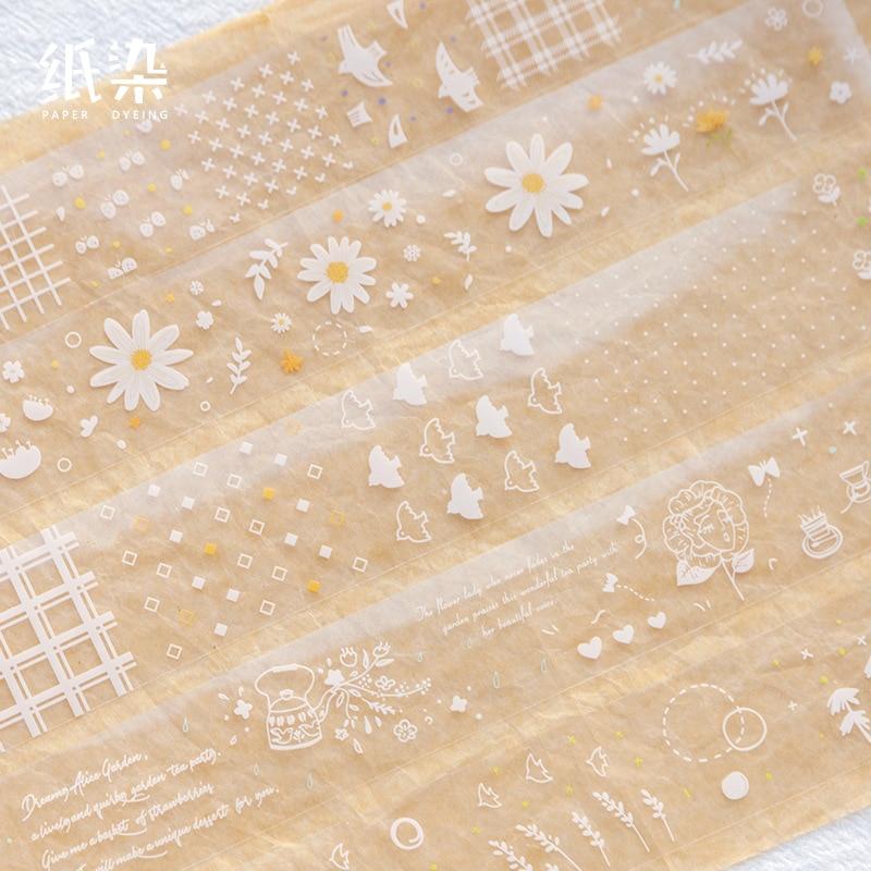 Retro Transparent Forest Bullet Journal Decorative Transparent Washi Tape Masking Tape Japanese Stationery Stickers Scrapbooking