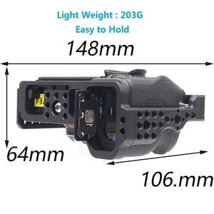 Image 5 - A7R4 כלוב פרו A7R IV מצלמה כלוב עבור Sony A7R סימן IV מצלמה W/1/4 3/8 חוט חור למעלה ידית מיקרופון פלאש אור סגסוגת