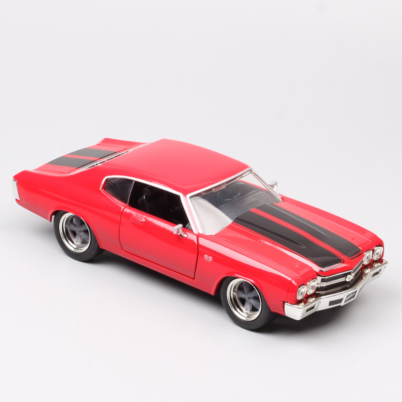 Jada 1/24 Scale Vintage Chevy 1970 Chevrolet Chevelle SS Station Wagons Diecasts & Toy Vehicles Sports Car Models Gift Children