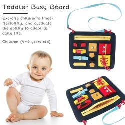 Детские базовые навыки, обучающая доска, Монтессори, базовые навыки, обучающая игрушка для малышей