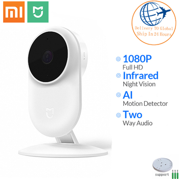 원래 샤오미 mi jia mi 카메라 1080P 스마트 카메라 130 학위 2.4G Wi-Fi 10m 적외선 야간 시계 + NAS mi c 스피커 무선