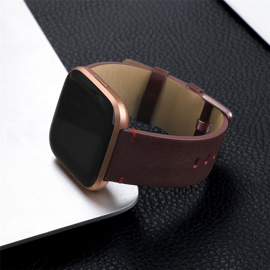 Stainless Steel Wristband Replacement Strap For Fitbit Versa 2 Smart Watch Strap Luxurious Leather Comfortable To Wear 5 Colours