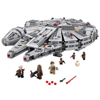1381 Pcs Star Space Wars Millennium 05007 Falcon Spacecraft Building Blocks Birthday Gift Toys