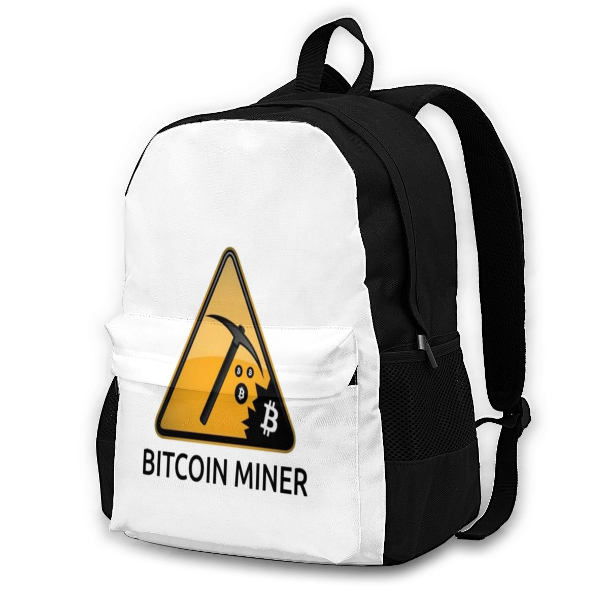 Bitcoin Backpacks Polyester School Female Backpack Durable Novelty Bags 1