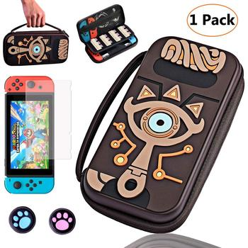 4 in 1 Carry Bag For NintendoSwitch Sheikah Slate Silicone Embossed Case with Screen Protector & 2 Thumb Grip for Nintend Switch футболка flip switch logo slate