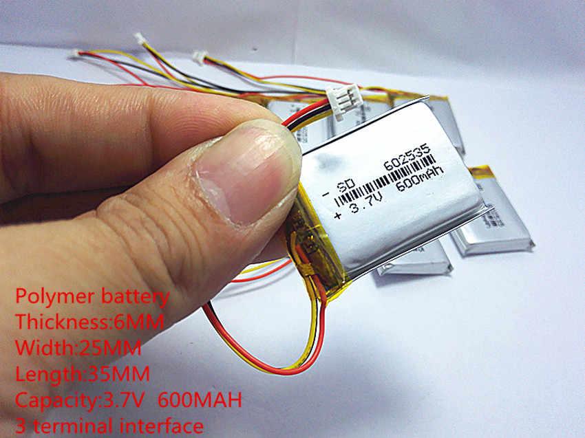 2020新しい電池ポリマーリチウム電池3.7 v、600 602535カスタマイズすることができ卸売ce fcc rohs指令msds品質認証