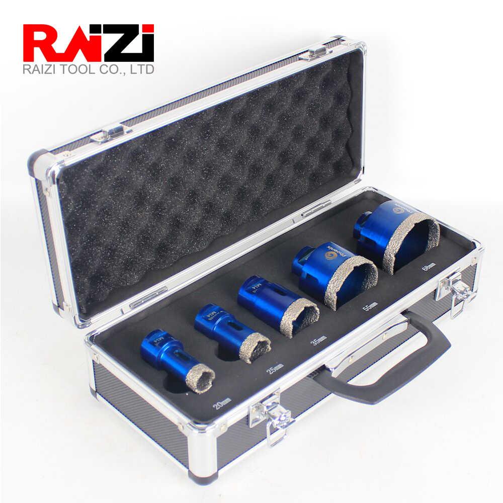 raizi diamond drill bits porcelain ceramic tile hole saw cutter set for marble granite m14 vacuum brazed tile drilling tools