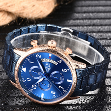 LIGE Watches Chronograph Waterproof  Automatic LIGE10017