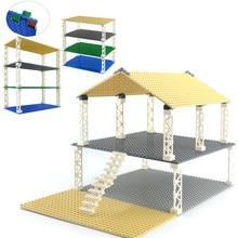 Plaques double-faces de base en plastique de 32 x 32, carreaux plats pour petites briques compatibles avec les dimensions classiques des jeux de constructions, jouets d'élaboration,
