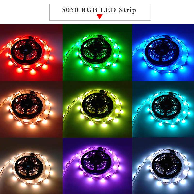 Listwy RGB LED Light SMD 2835 wodoodporna taśma RGB DC12V wstążka dioda led diody na wstążce elastyczna lampa w paski IR WIFI Controller