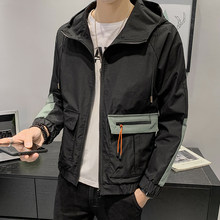 Hombre Ropa Para Hip Hop Color Block Patchwork Hooded Jacket Autumn Men Casual Pullover Hoodie Coat Streetwear Jaqueta Masculino(China)