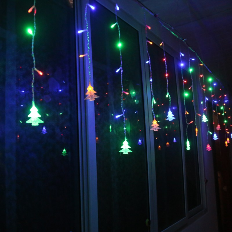 Connectable 3.5M/5M LED Icicle String Lights 8 Modes Christmas Tree LED Curtain Garland New Year Christmas Wedding Party Light
