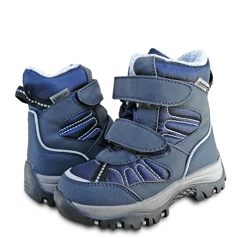 NEW 1pair Waterproof Boy Snow Boots Winter Warm Leather Ski Children Wool Boot,-40 Or -30 Degrees Kid Boy Boot
