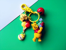 2020 New Cute Bear Jumping Tiger Keychains Cartoon Car Key Chain Creative Bag Pendant Gift Couple Ins Girl Heart Key Ring 2020 headset bear key chain pendant creative cute cartoon doll keychains women bag car key ringchildren s gift toys key ring