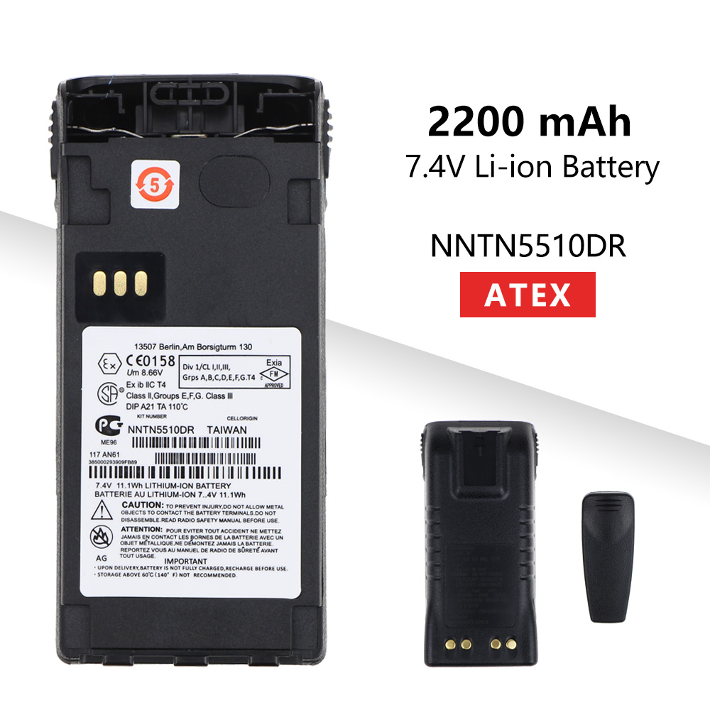 2200mAh Li-ion ATEX External Battery NNTN5510DR For Motorola GP329EX GP339EX PTX760EX GP340 GP380 GP580 GP680 Radios
