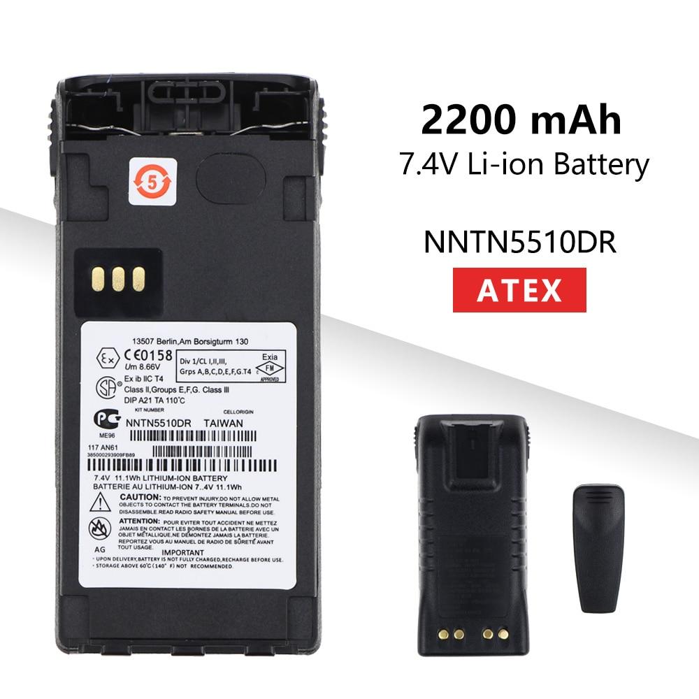 2200mAh Li-ion ATEX External Battery NNTN5510DR For Motorola GP329EX GP339EX PTX760EX GP340 GP380 GP580 GP680 Radios