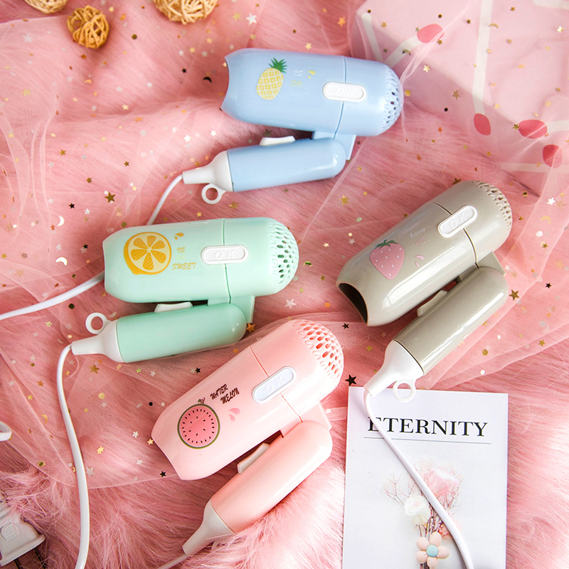 220V Mini Hair Dryer Foldable House Portable Thermostatic Air Collecting Traveller Compact Blower Electric Hair Dryer