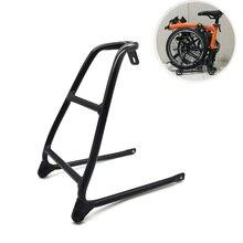 Aceoffix rowerowa mała półka ze stopu aluminium ultralekki wspornik tylny stojak mini-oszczędzający moc Tow małe koła do Brompton