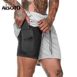 шорты мужские шорты одежда мужские шорты шорты для плавания килт Для мужчин 2 в 1 Шорты повседневные шорты быстросохнущие Бермуды пляжные сп...