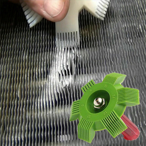 Universal Car Air Conditioner Fin Repair Comb Cooler Condenser Air Conditioner Straightener Auto Cooling System Cleaning Tool(China)