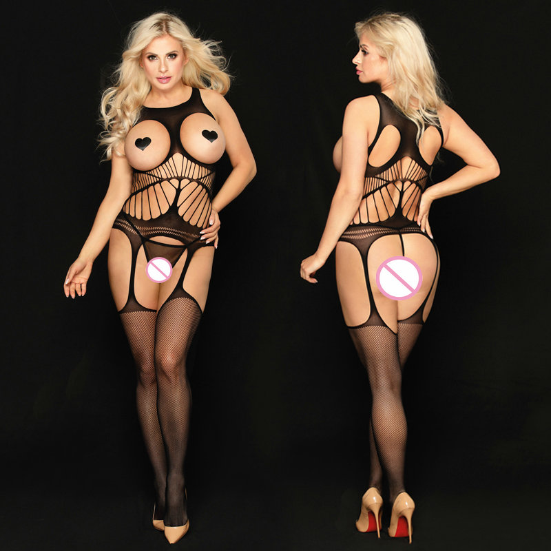 Sexy Lingerie Women Fetish Open Crotch Body Stocking Bodysuits Sex Clothes Underwear For Adult Woman