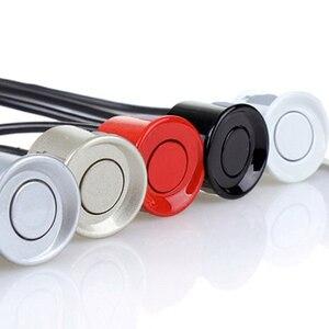 Image 2 - 22mm sensör siyah kırmızı beyaz gümüş şampanya altın rengi araba park sensörü kiti monitör ters sistemi