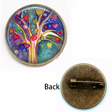 Retro tree of life brooch weeping willow religious jewelry glass dome pendant female accessories holiday gift souvenir