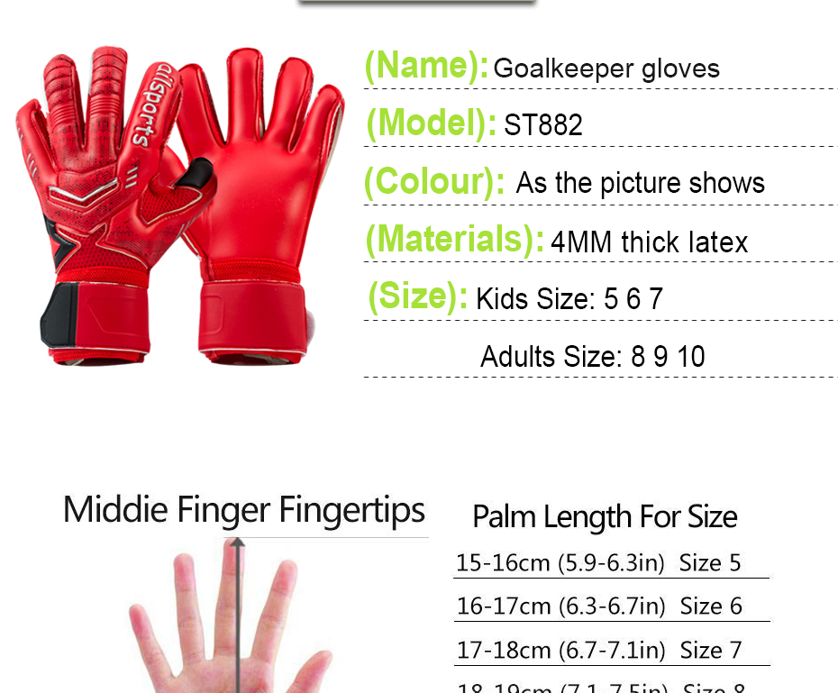 Professional Goalkeeper Gloves With Finger Protection 7