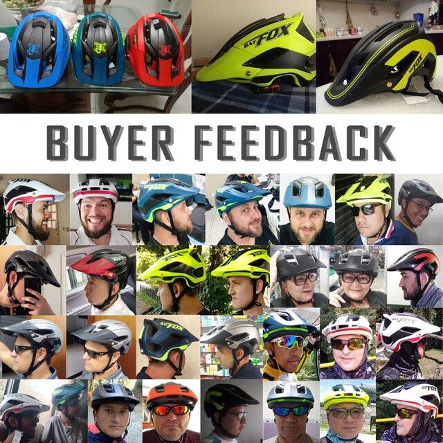 BATFOX Capacete de bicicleta CE MTB, capacetes de ciclismo de montanha e estrada vermelha e com viseira solar unissex ultraleve 5