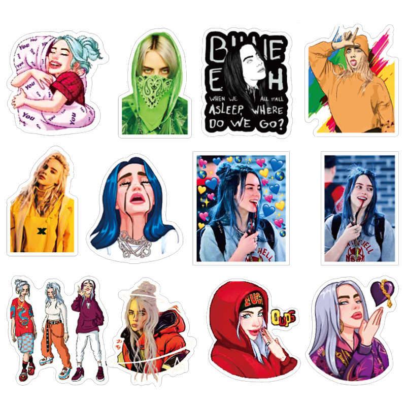 50 pièces Billie Eilish dessin animé autocollant étanche valise bricolage ordinateur portable guitare Skateboard jouet beaux autocollants