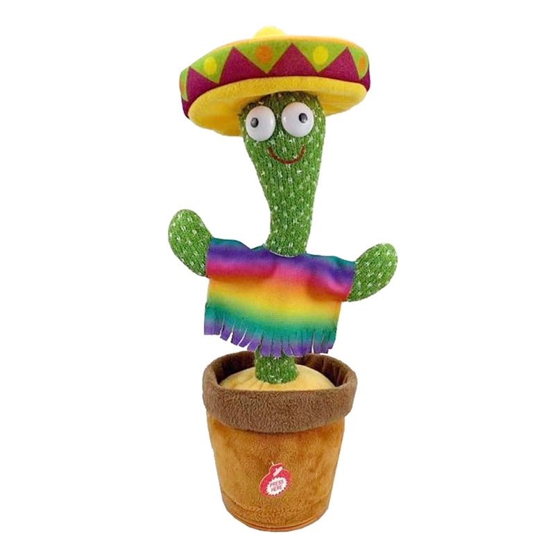 Dancing Cactus Electronic Cactus Toy, Electronic Vibration Dancing Cactus, Singing And Swinging Straw Hat Potted Plant