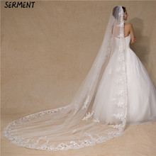 SERMENT Sdouble Layer 3 M Shoulder Length Veil Bridal Veil Super Long Trailing Soft Yarn Wedding Accessories посуда sdouble 75ml