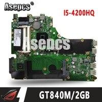 Asepcs X750JN GT840M/2 ГБ-I5-4200HQ материнская плата для ASUS X750J k750J A750J X750JN X750JB Материнская плата ноутбука