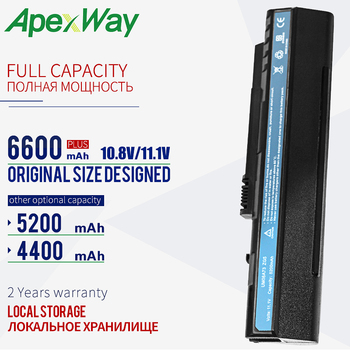 11.1V 6 Cells battery UM08A31 For Acer Aspire One A110 A150 D150 D210 D250 ZG5  UM08A32 UM08A51 UM08A52 UM08A71 UM08A72 UM08A73 адаптер питания topon top ac04 lc adt00 006 19v 30w для aspire one a150 d250 531h 751h mini 9 10 12 mini 700