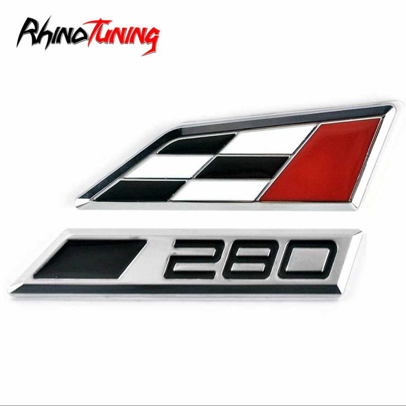 Car Styling Metal 280 Number Emblem Badge Auto Racing Logo Sign Sticker For 2014 Leon Cupra 20795