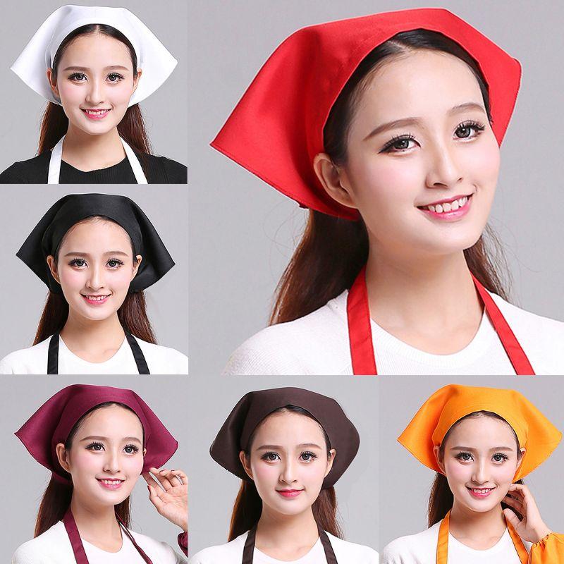 Japanese Style Women Men Triangle Headscarf Towel Kitchen Restaurant Chef Hat Unisex Stylish Casual Restaurant Turban Cap