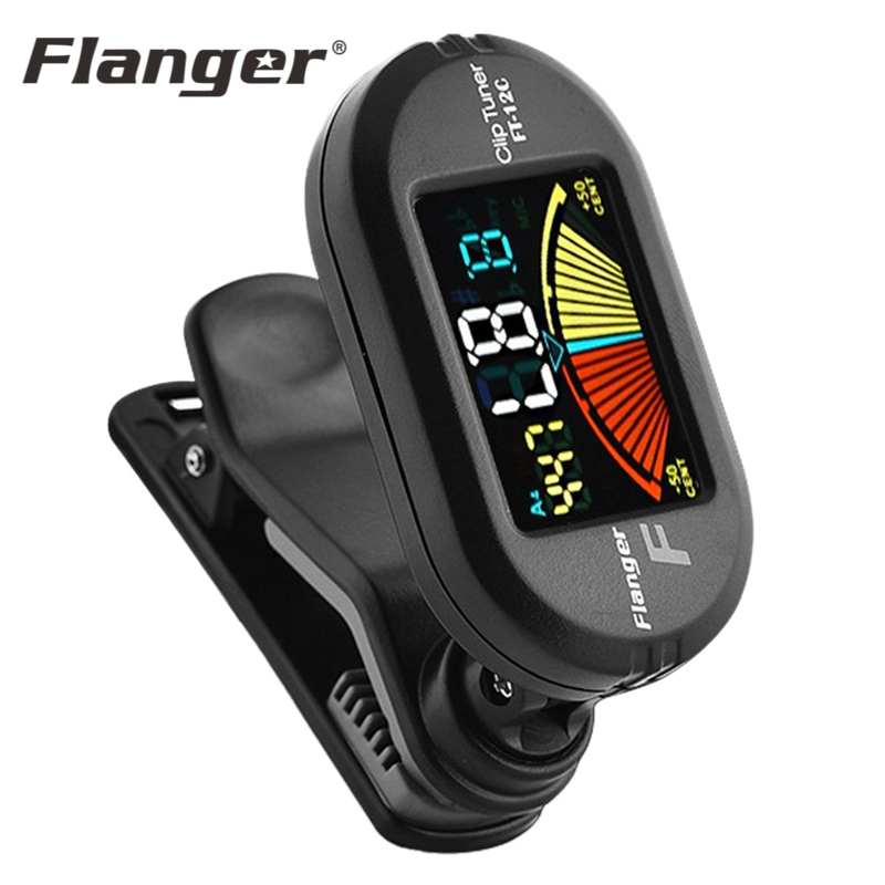 Flanger Guitar Tuner Clip-On Chromatic Tuner With Vibe-sensor For Chromatic Guitar Bass Violin Ukulele Guitar Accessories