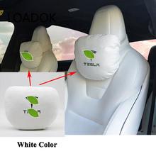 Подушка для шеи на подголовник автомобильного сиденья tesla