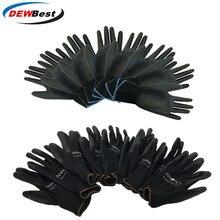 DEWbest כפפות חדש חנות מפעל ישיר עבודה כפפות PU חומר בטיחות הגנת כפפות 12 זוגות\חבילה אירופאי סטנדרטי 001 d9