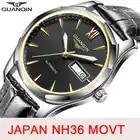 GUANQIN Automatic Mechanical men Watch Japan NH36 movement Sapphire watch men Luminous clock waterproof date SaRelogio Masculino