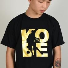Cherish The Memory of Kobe Bryant T Shirt Men Short Sleeve 100% Cotton Casual Tops Tees for Kobe Bryant Fans Gift Golden Pattern