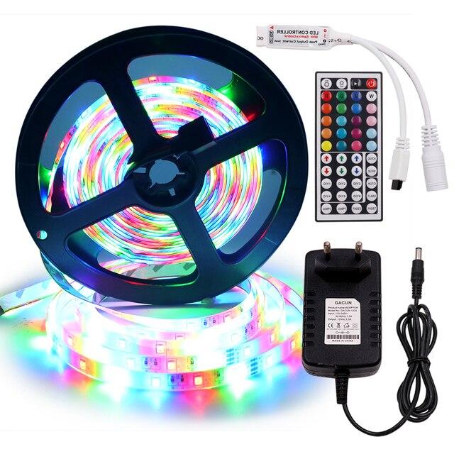 Фото светодиодная ленсветильник 12 в 5 м 2835 smd 60 светодиодов/м цена