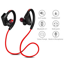 Sport Bluetooth Earphone Wireless Waterproof Headphone 3 Colors Stereo Bass Double Headset with Mic for Phone