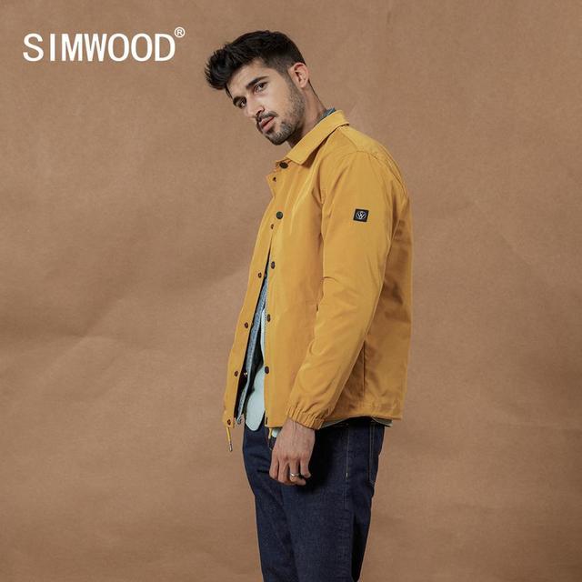 Simwood 2020 Mùa Xuân Mới Áo Khoác Nam Thời Trang Tối Giản Áo Gió Cao Cấp Áo Khoác Ngoài SI980627